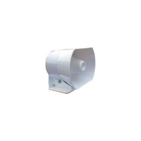 Haut-parleur 150W avec habillage pour montage sur pavillon - 2,5kg - Blanc