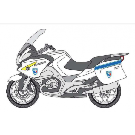 KIT de Sérigraphie Moto/Scooter Carénée - Police Municipale