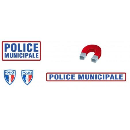 KIT de Sérigraphie Police Municipale Magnétique