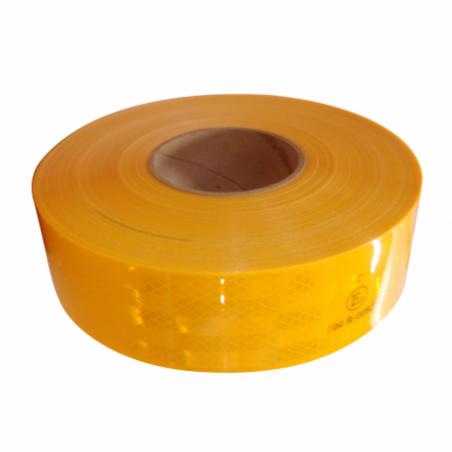 Bande jaune pompier 0,055 x 45,7m - classe B - jaune