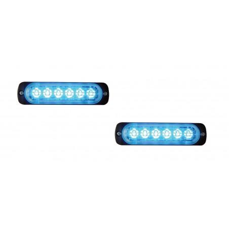 La Paire de Feu led L52 bleu  - Classe 2 - 10/30V - R56 horizontale