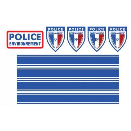 KIT de Sérigraphie Moto/Scooter Caréné - POLICE ENVIRONNEMENT