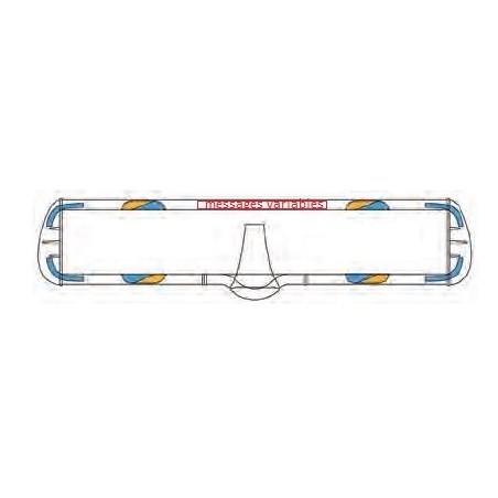 Rampe VEGA SPA - 1,20m - sonore  SPA - boitier Handy - 2 feux bleu avant/arrière plus 4 feux orange défilement warning