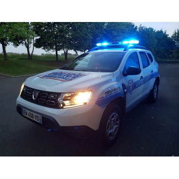 Sérigraphie Police Municipale avec le nom de la ville