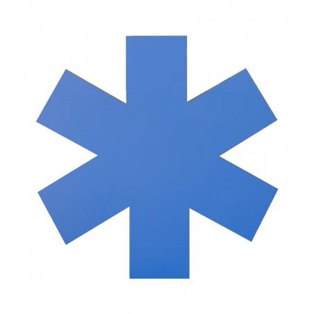 Kit VSL 3 étoiles (capot+portes) 6 bandes bleues 1m50