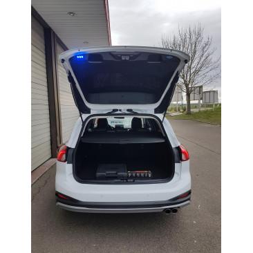 Feux de balisage arrière bleu déclenchement par interrupteur
